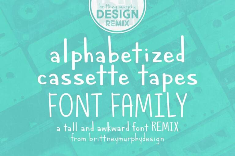 alphabetized cassette tapes font family featured image