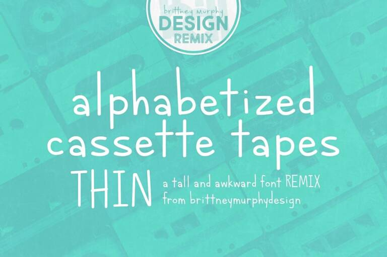 alphabetized cassette tapes thin featured image