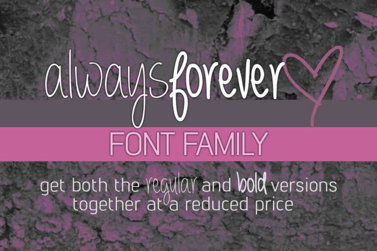 always forever font family featured image