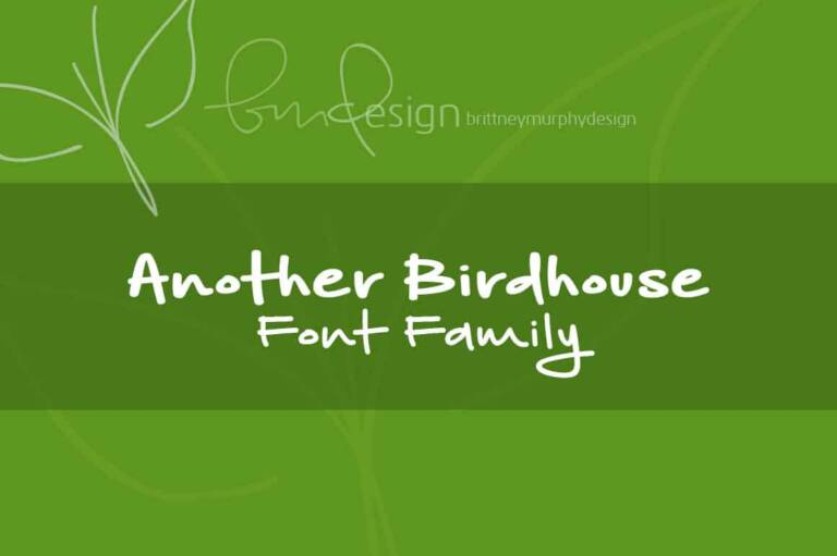 another birdhouse font family featured image