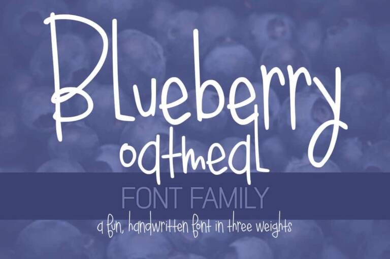blueberry oatmeal font family featured image
