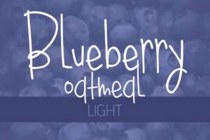 Blueberry Oatmeal Light Font