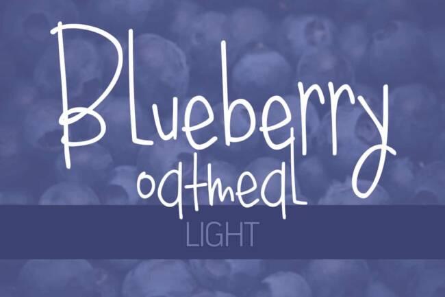 Blueberry Oatmeal Light Font