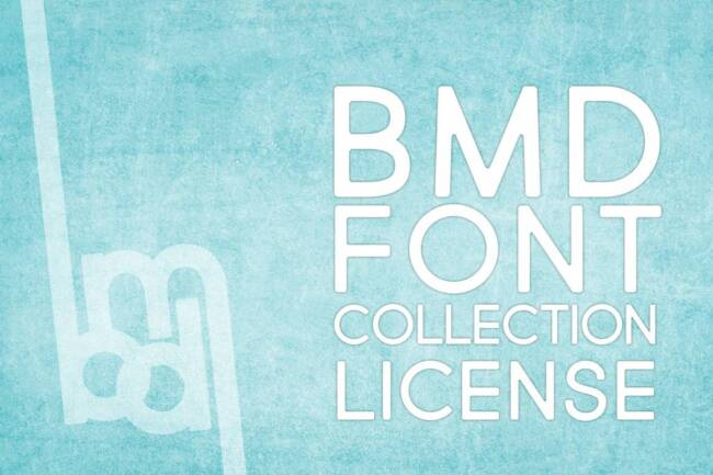 bmd font collection license featured image