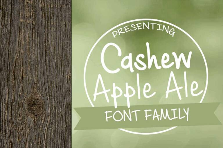 cashew apple ale font family featured image