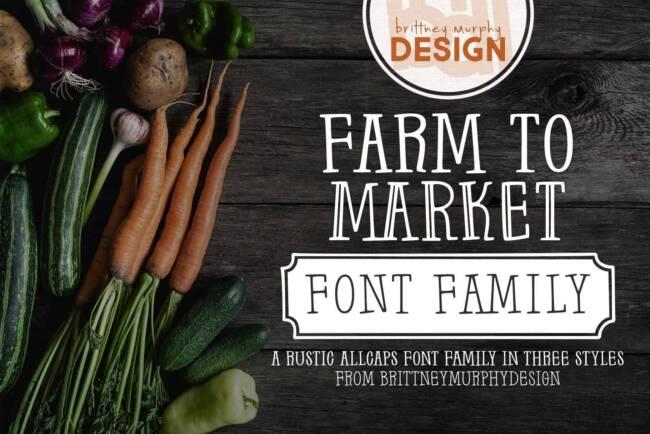 Farm to Market Font Family