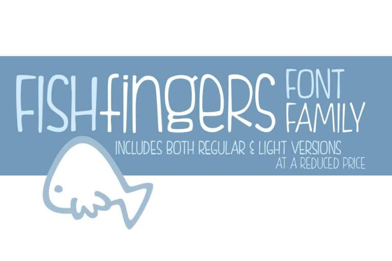 fishfingers font family featured image