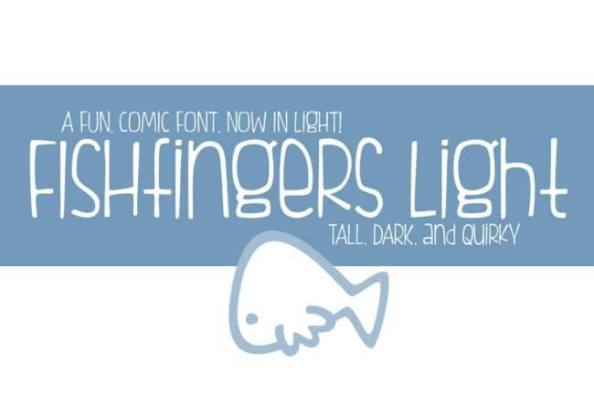 Fishfingers Light Font