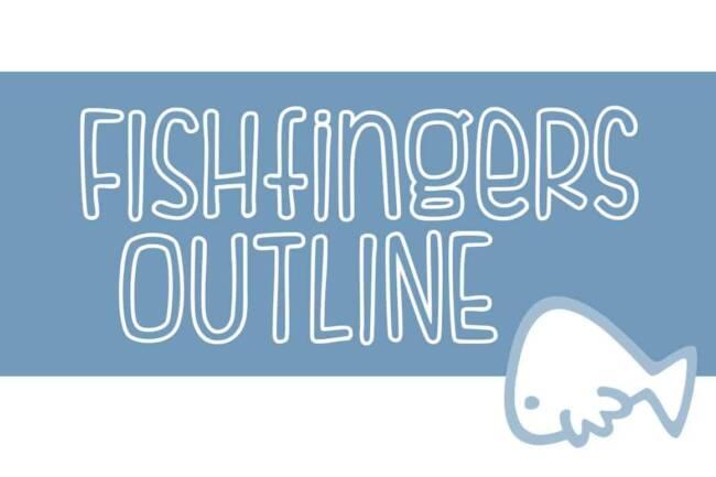 Fishfingers Outline Font