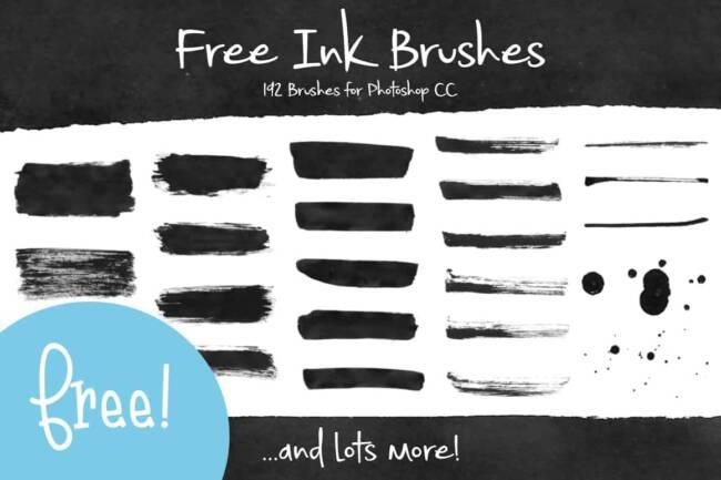 Free Photoshop Ink Brushes