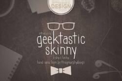 Geektastic Skinny Font