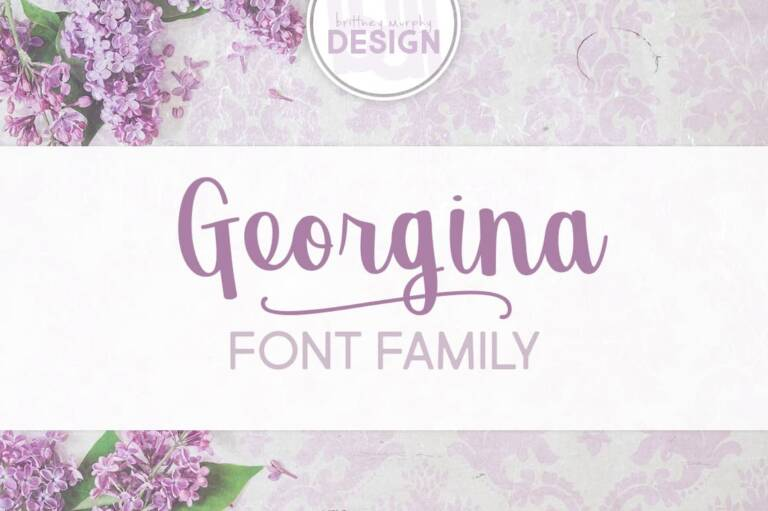 georgina font family featured image