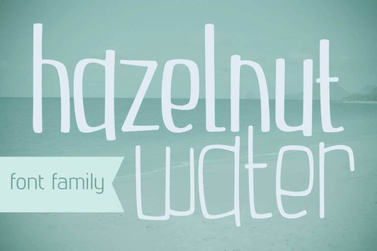 hazelnut water font family featured image
