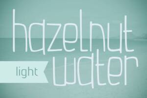 Hazelnut Water Light Font