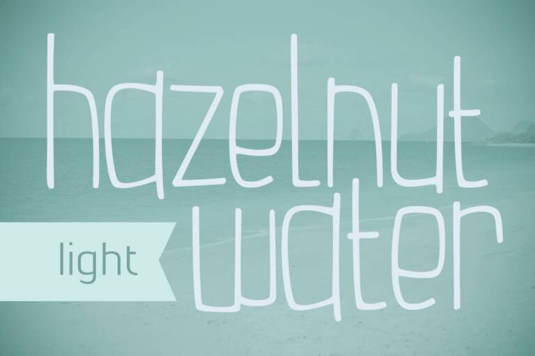 Hazelnut Water Light Font