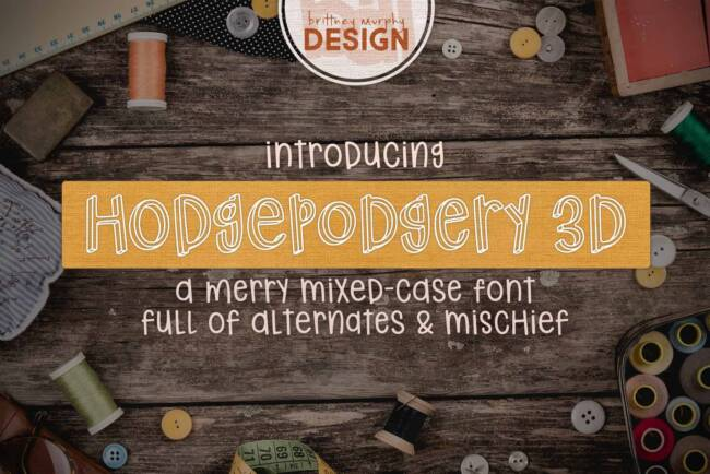 Hodgepodgery 3D Font