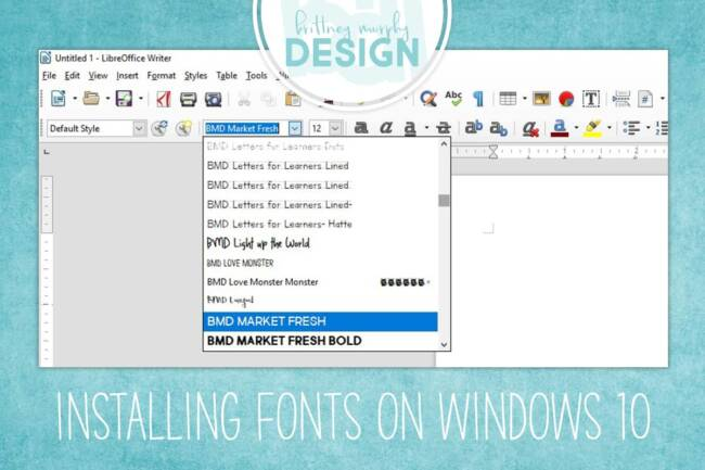 installing fonts on windows 10 featured image