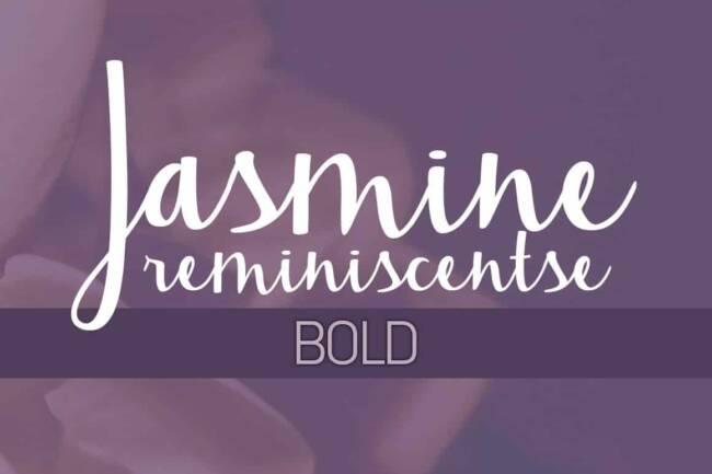 Jasmine Reminiscentse Bold Font