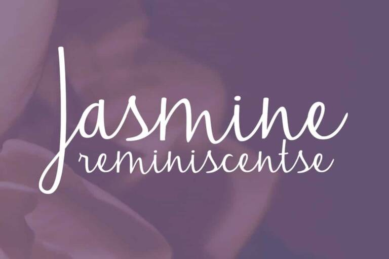 Jasmine Reminiscentse Font