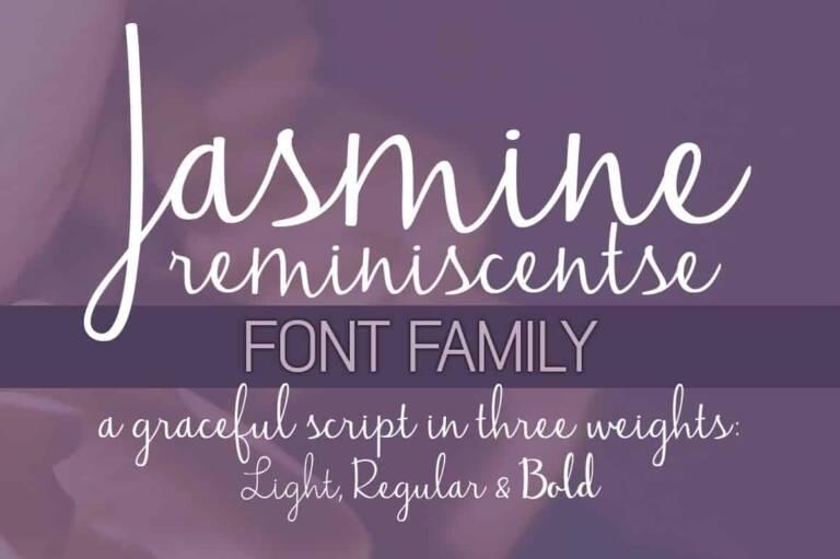 jasmine reminiscentse font family featured image