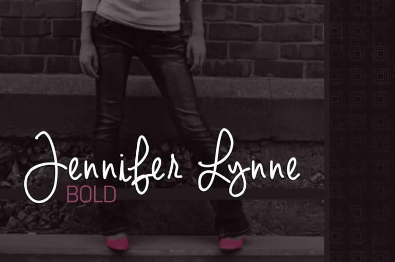 Jennifer Lynne Bold Font