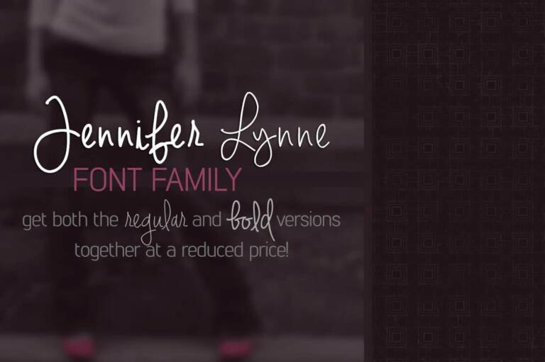 jennifer lynne font family featured image
