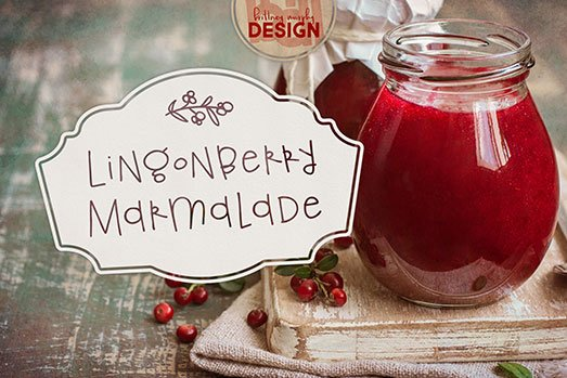 lingonberry marmalade font featured image