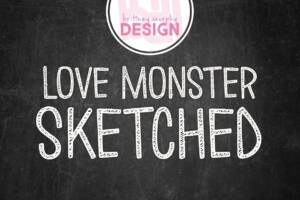 Love Monster Sketched Font