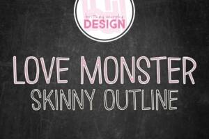 Love Monster Skinny Outline