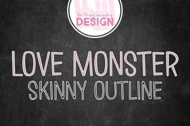 Love Monster Skinny Outline