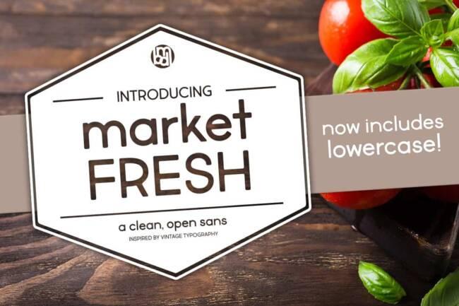 Market Fresh Font