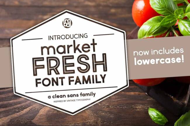 market fresh font family featured image