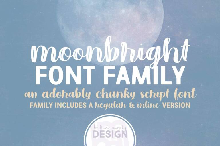 moonbright font family featured image