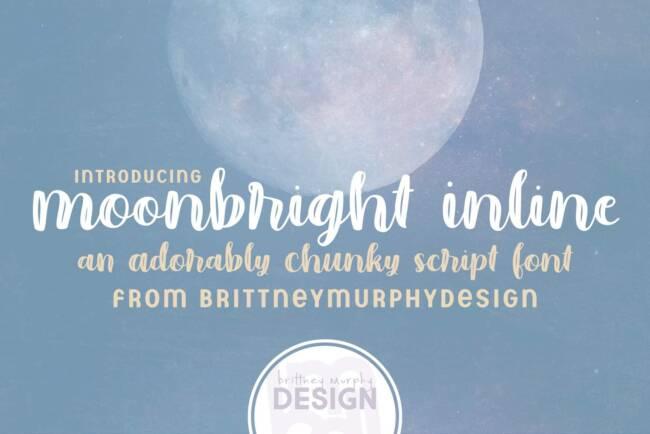Moonbright Inline Font