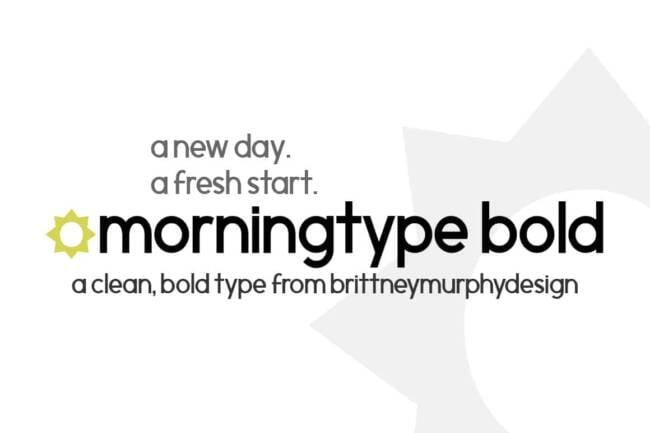 Morningtype Bold Font