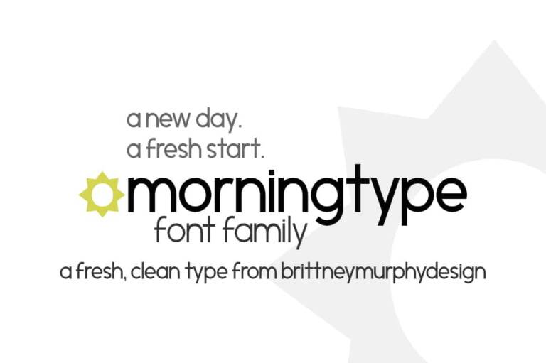 morningtype font family featured image