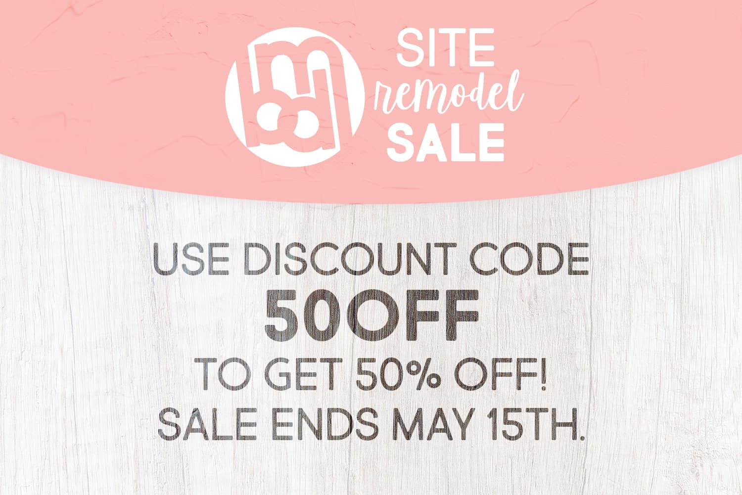 new theme and 50 off sale and giveaways featured image