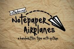Notepaper Airplanes Font