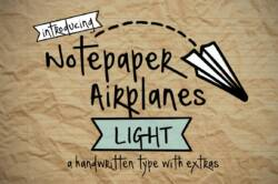 Notepaper Airplanes Light Font