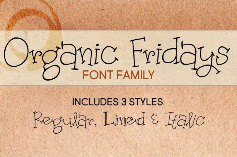 organic fridays font family featured image