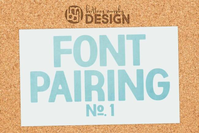 pair script and standard fonts featured image