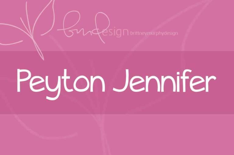 Peyton Jennifer Font