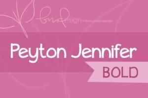 Peyton Jennifer Bold Font