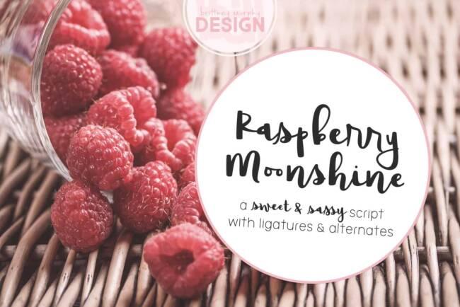 Raspberry Moonshine Font