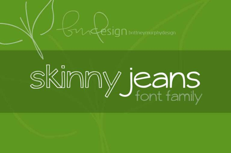 skinny jeans font family featured image