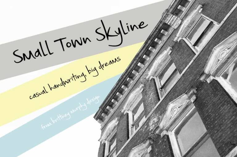 Small Town Skyline Font