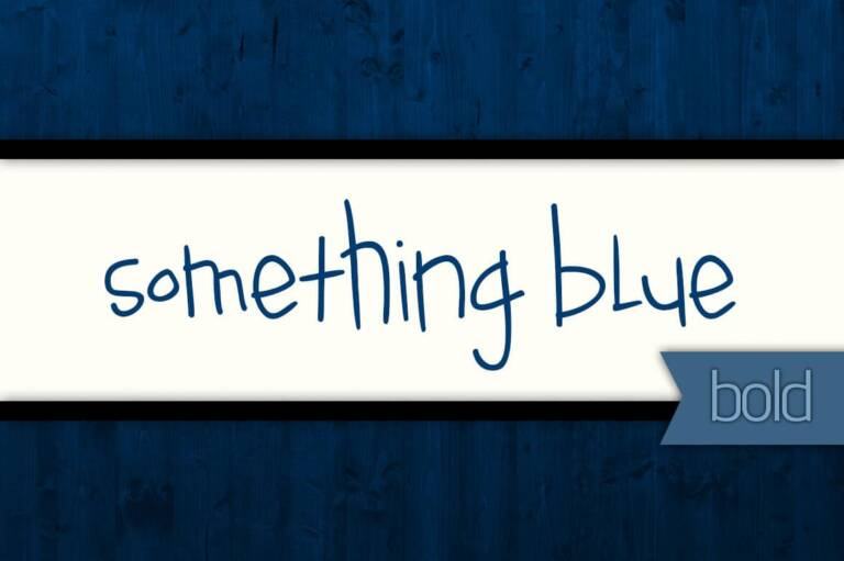 Something Blue Bold Font