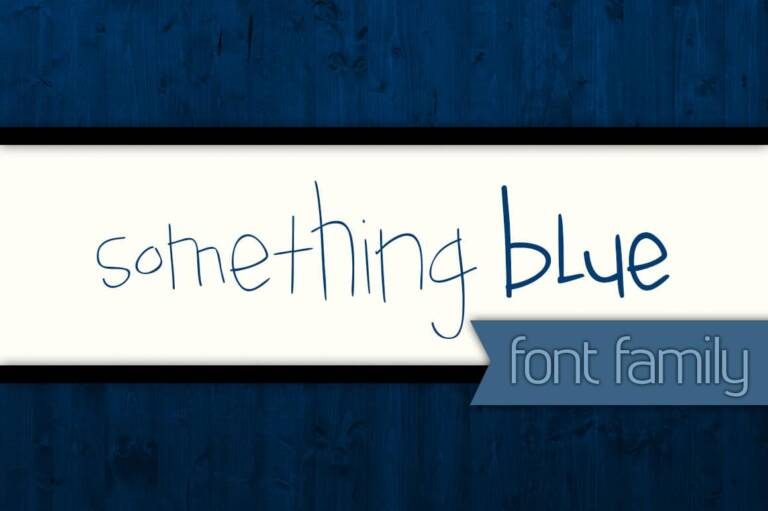 something blue font family featured image