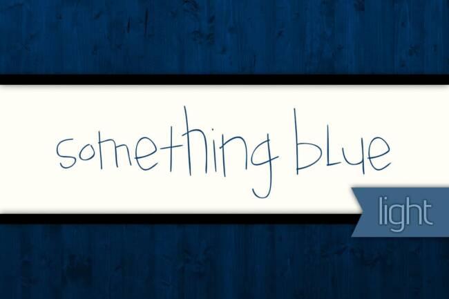 Something Blue Light Font