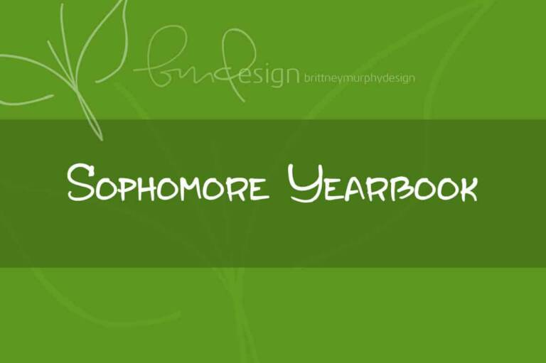 Sophomore Yearbook Font